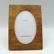 Сувениры и подарки handmade. Livemaster - original item Photo frame made of Karelian birch 10 x 15. Handmade.