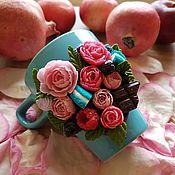 Чашки ручной работы. Ярмарка Мастеров - ручная работа Сладкие цветы. Handmade.