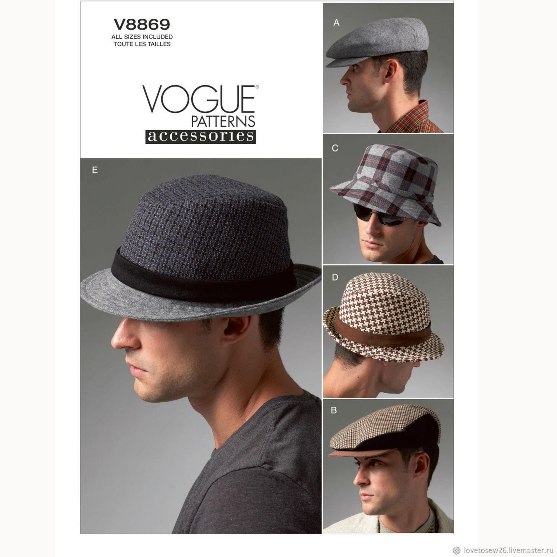 V8869 Выкройки 5 головных уборов шляпы кепки VOGUE 8869, Выкройки для шитья, Санкт-Петербург,  Фото №1