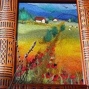 Картины и панно ручной работы. Ярмарка Мастеров - ручная работа Солнце и маки a-la Provence (Продана). Handmade.