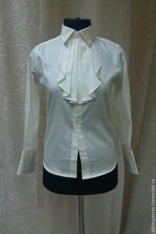Blouse-shirt with removable jabot, Blouses, Moscow,  Фото №1