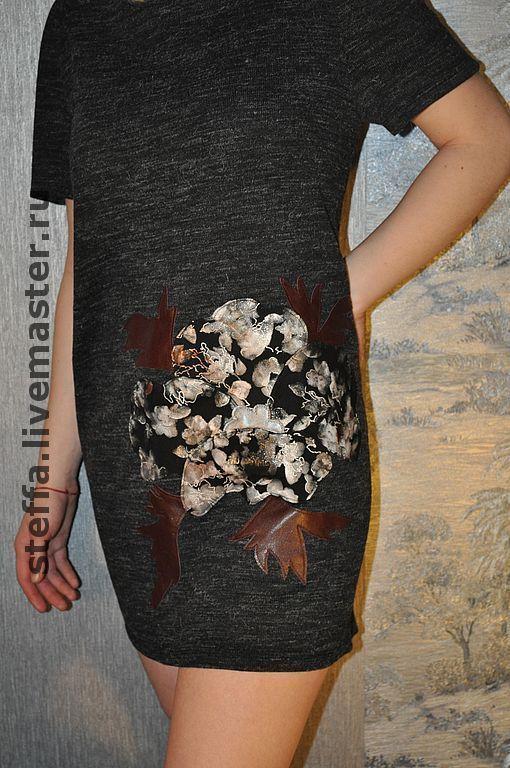 """Платья ручной работы. Ярмарка Мастеров - ручная работа. Купить Платье """"Удивительный цветок"""". Handmade. Платье, трикотажное платье, большой размер"""