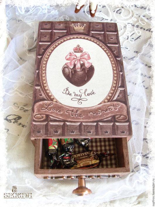 Кухня ручной работы. Ярмарка Мастеров - ручная работа. Купить Короб для шоколада. Handmade. Коричневый, шкатулка для сладостей