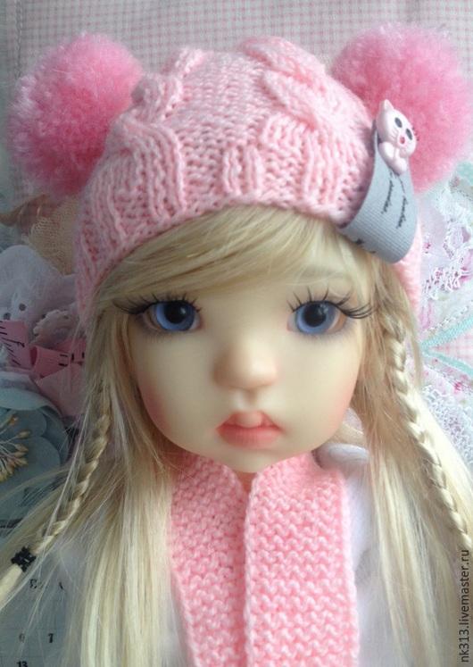 """Одежда для кукол ручной работы. Ярмарка Мастеров - ручная работа. Купить """"Котята"""" Одежда для куклы.. Handmade. Бледно-розовый, шарфик"""