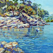 Картины и панно handmade. Livemaster - original item Oil painting on canvas sea