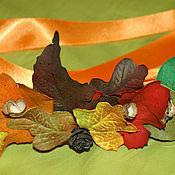 Работы для детей, ручной работы. Ярмарка Мастеров - ручная работа Пояс - венок из осенних листьев. Handmade.
