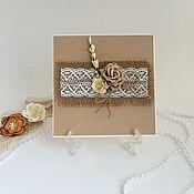 Открытки ручной работы. Ярмарка Мастеров - ручная работа Приглашения на свадьбу в стиле Рустик. Handmade.