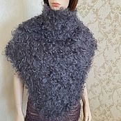 Аксессуары handmade. Livemaster - original item Knitted scarves feather Down scarf, Knitted scarf from the wool of the goat. Handmade.