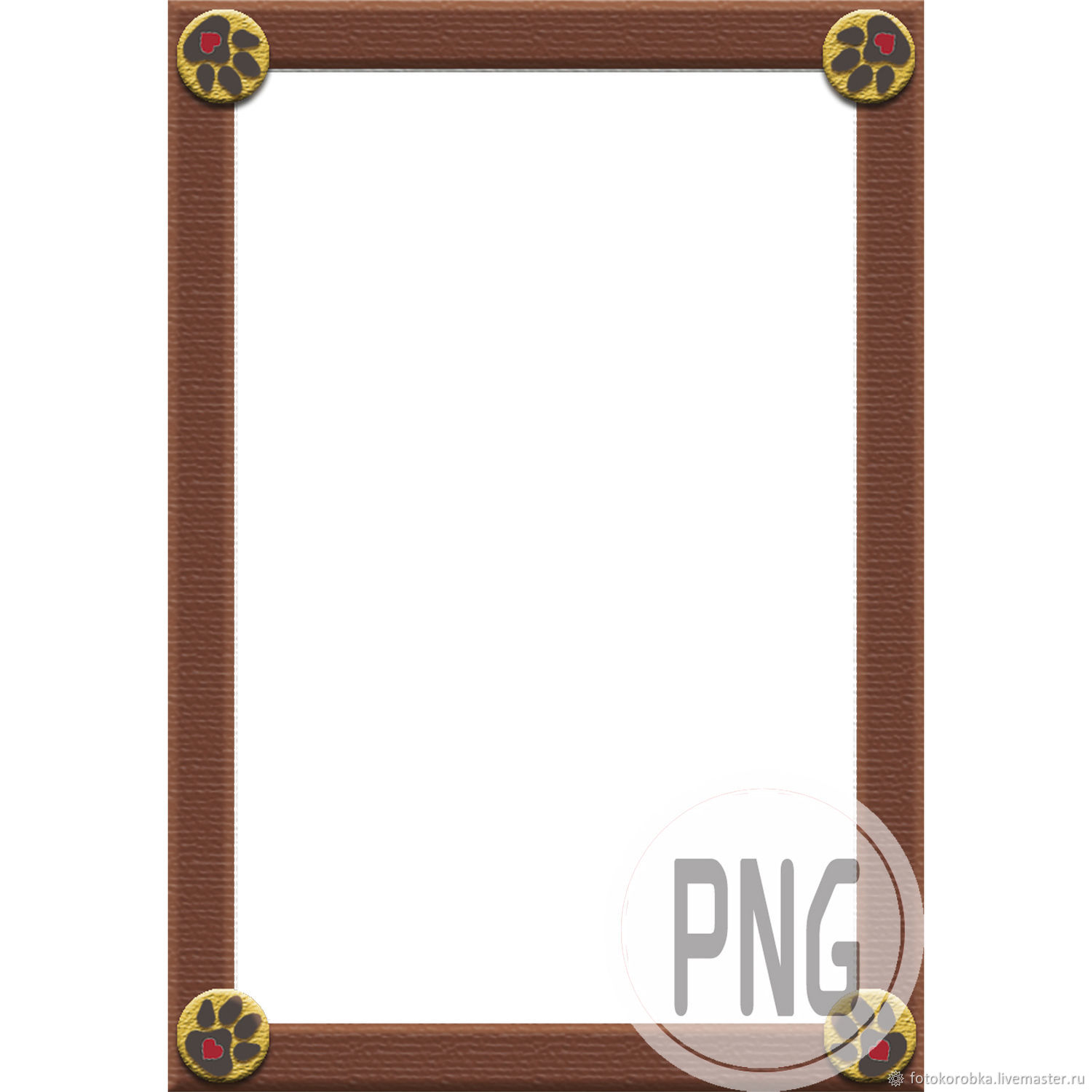 Photo frame in PNG format-paws, Photo, Moscow,  Фото №1