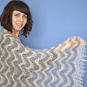 Аксессуары handmade. Livemaster - original item 181 downy tippet scarf two tone, Orenburg, accessories. Handmade.