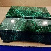 Для дома и интерьера handmade. Livemaster - original item Box of natural stone malachite.. Handmade.