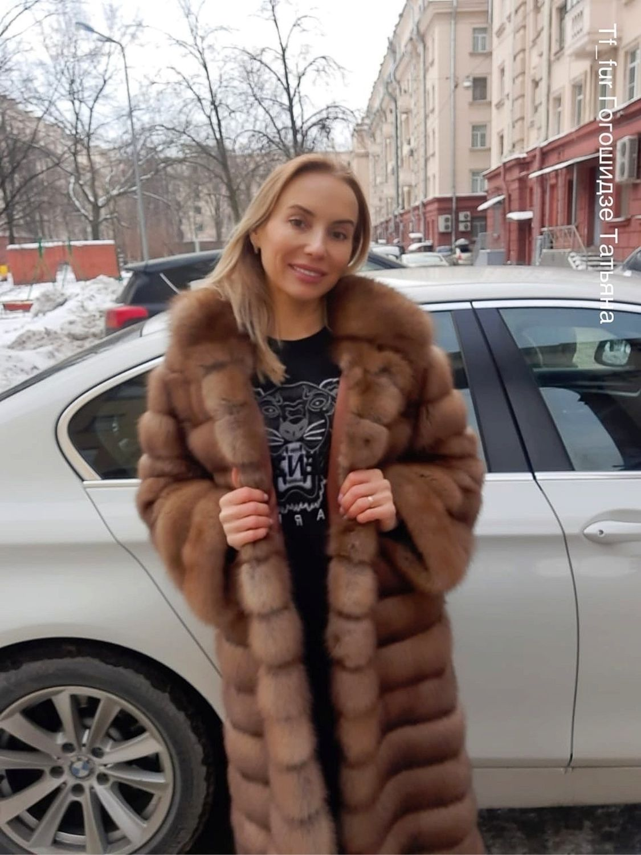 Шуба- пальто из меха лесной куницы, Шубы, Санкт-Петербург,  Фото №1