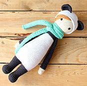 Куклы и игрушки handmade. Livemaster - original item Lalalala doll in Panda costume on motives of Lalylala. Handmade.