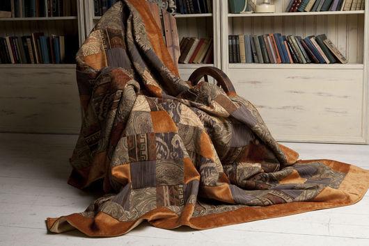 """Текстиль, ковры ручной работы. Ярмарка Мастеров - ручная работа. Купить №2 """"Шафран"""" Покрывало в технике пэчворк. Handmade. Покрывало"""
