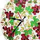 """Часы для дома ручной работы. Ярмарка Мастеров - ручная работа. Купить Часы """"Виноград"""". Handmade. Часы, Роспись по стеклу"""