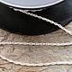Для украшений ручной работы. Ярмарка Мастеров - ручная работа. Купить 007С Цепочка 50 см серебро 925 пробы. Handmade.