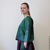 handmade. Livemaster - original item Felted sweatshirt Emerald. Handmade.