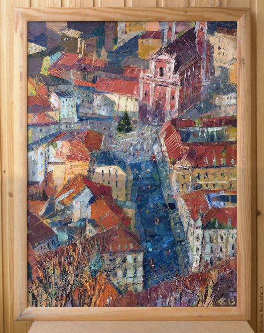 Анна Крюкова (impression-живопись) Картина зима маслом Картина на Новый год Рождество день рождения Купить картина маслом на холсте
