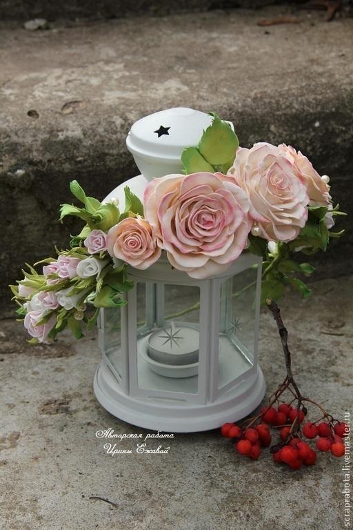 Свадебные украшения ручной работы. Ярмарка Мастеров - ручная работа. Купить Венок из множества роз. Handmade. Бежевый, венок для волос