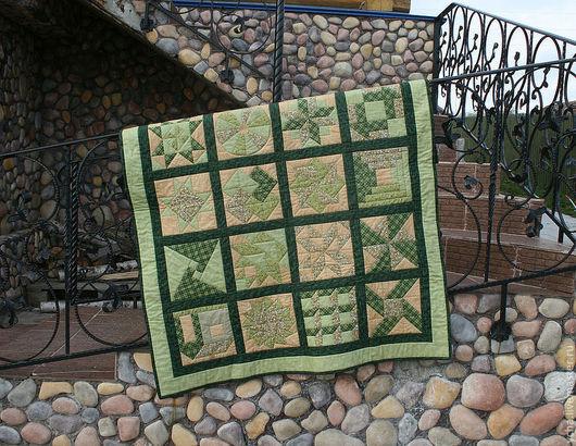 """Текстиль, ковры ручной работы. Ярмарка Мастеров - ручная работа. Купить """"Весенний пикник"""". Плед, покрывало.. Handmade. Зеленый"""
