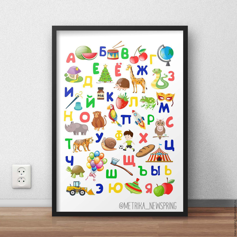 русский алфавит плакат на стену специалист вам подскажет