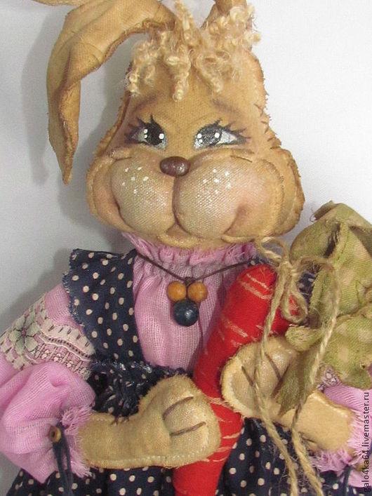 Ароматизированные куклы ручной работы. Ярмарка Мастеров - ручная работа. Купить Зайка  пакетница. Handmade. Заяц текстильный, пакетница, шитьё