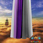"""Одежда ручной работы. Ярмарка Мастеров - ручная работа юбка длинная шифоновая """"Аметист"""" 10-клинка. Handmade."""