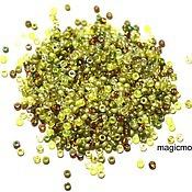 Материалы для творчества handmade. Livemaster - original item 10g Miyuki 15/0 MIX 55 olive Japanese seed beads Miyuki round mix. Handmade.
