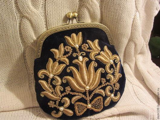 Женские сумки ручной работы. Ярмарка Мастеров - ручная работа. Купить Вечерняя сумочка. Handmade. Тёмно-синий, вечерняя сумка