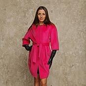 Одежда handmade. Livemaster - original item Coat fuchsia AMODAY cashmere and wool. Handmade.