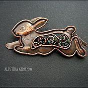 """Украшения ручной работы. Ярмарка Мастеров - ручная работа Брошь """" Кролик"""". Handmade."""