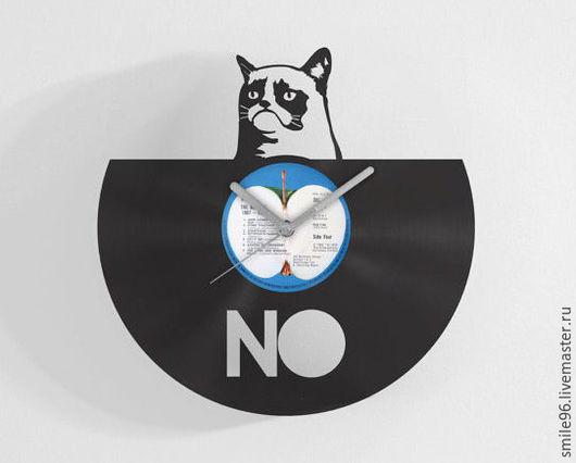 """Часы для дома ручной работы. Ярмарка Мастеров - ручная работа. Купить Часы из пластики """"Сердитый кот"""". Handmade. Злой кот"""