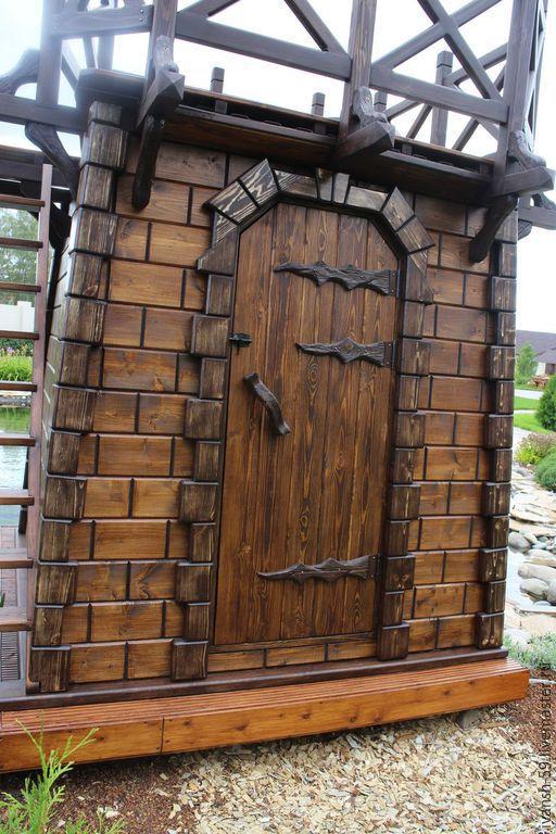 Элементы интерьера ручной работы. Ярмарка Мастеров - ручная работа. Купить Дверь деревянная. Handmade. Дверь, наличник деревянный, для бани