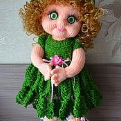 """Куклы и игрушки ручной работы. Ярмарка Мастеров - ручная работа Кукла вязаная """"Барышня в зеленом"""". Handmade."""