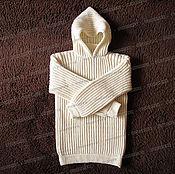 Одежда handmade. Livemaster - original item Sweater fleece with a hood, light (No. №7). Handmade.
