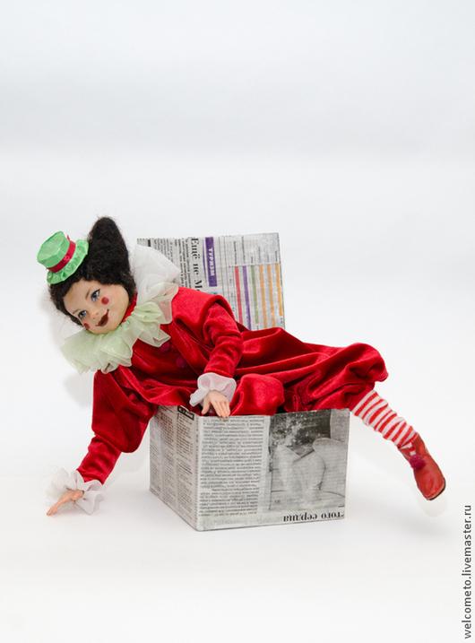 Коллекционные куклы ручной работы. Ярмарка Мастеров - ручная работа. Купить Кукла из пластика Марыся. Handmade. Ярко-красный, капрон