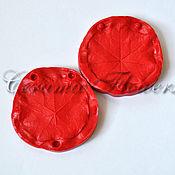 Материалы для творчества handmade. Livemaster - original item Silicone mold (Weiner) leaf, nasturtium,bilateral. Handmade.