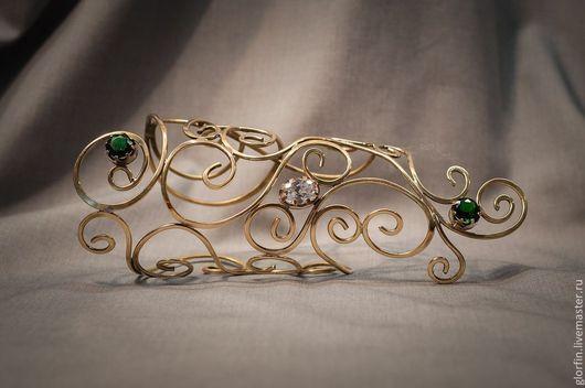 Диадема венец тиара корона эльфийские украшения эльфийская диадема браслет , Глорфин