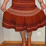 Одежда ручной работы. Ярмарка Мастеров - ручная работа Юбка вязаная теплая №16. Handmade.