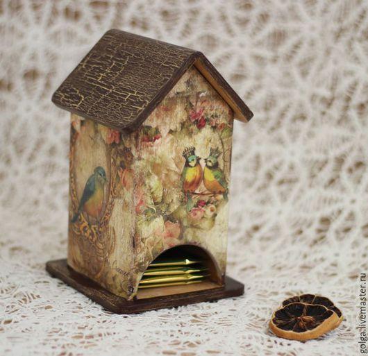 Чайный домик винтажный. Чайный домик ручной работы. Домик для чая. Чайный домик декупаж.Подарок на новоселье, свадьбу.
