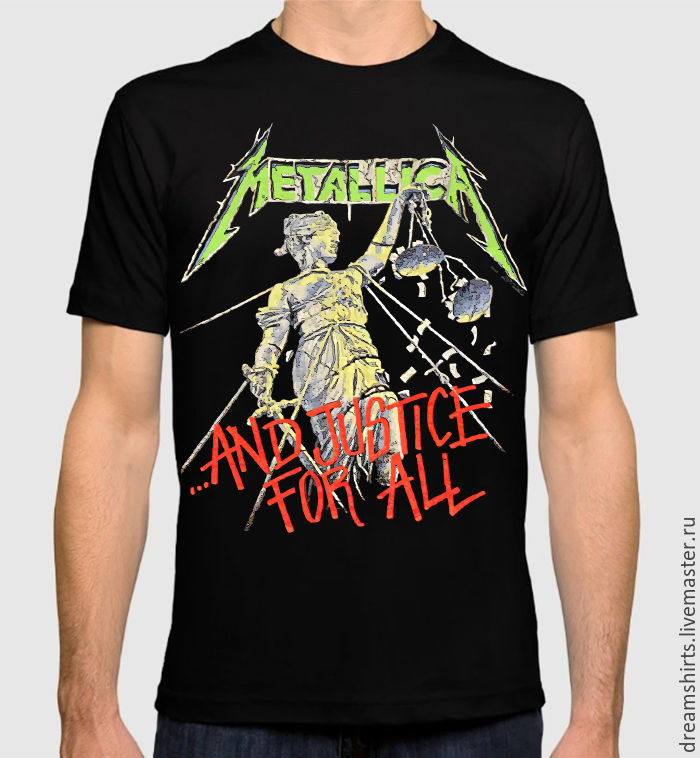 "Футболка ""Metallica - And Justice For All"", T-shirts, Moscow,  Фото №1"