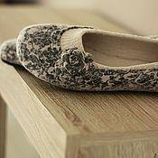 """Обувь ручной работы. Ярмарка Мастеров - ручная работа """"Танго - 2"""" туфельки балетки валяные.. Handmade."""