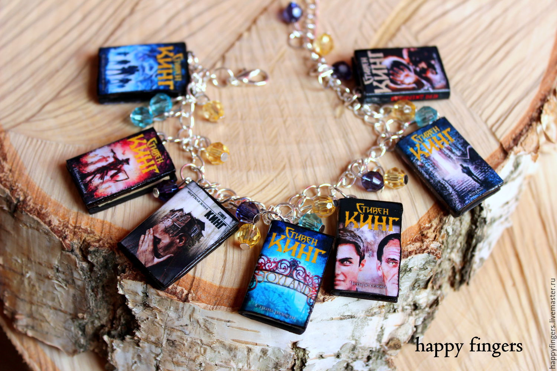The bracelet with the books 'Stephen king' Stephen King books, Bead bracelet, Elektrostal,  Фото №1