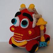 Куклы и игрушки ручной работы. Ярмарка Мастеров - ручная работа Пожарная машинка. Handmade.