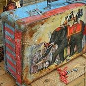 """Сумки и аксессуары ручной работы. Ярмарка Мастеров - ручная работа Чемодан """"Слон и Моська """". Handmade."""