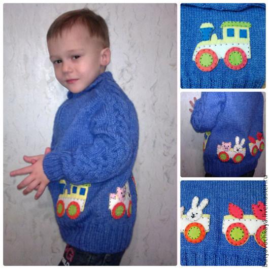 """Одежда для мальчиков, ручной работы. Ярмарка Мастеров - ручная работа. Купить """"Мы едем-едем-едем"""". Кардиган для мальчика.. Handmade."""