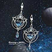 """Украшения ручной работы. Ярмарка Мастеров - ручная работа """"Stellar Astrolabe"""" Серебряные серьги. Handmade."""