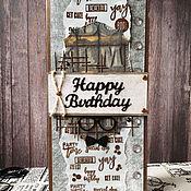 Открытки handmade. Livemaster - original item Sold!The handmade card,happy birthday) Male. Handmade.