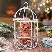 Косметика ручной работы handmade. Livemaster - original item Gift volumetric soap Tiger cub in a cage. Handmade.