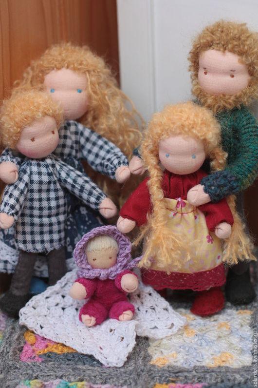 Вальдорфская каркасная  кукла ручной работы. 17.5 -6 см. SolarDolls, (Julia Solarrain)